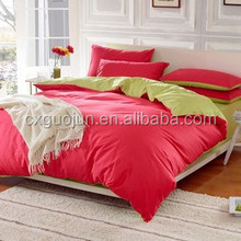 super soft plain yarn dyed colors two sides brushed polyester fabric/bed sheet/quilt cover good quality home textile