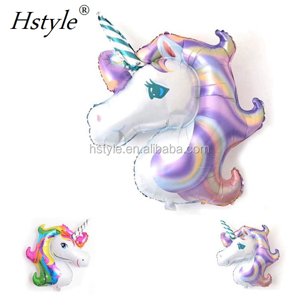 Rainbow Unicorn Helium Foil Balloons for Children's Day Birthday Party Decoration SBF021