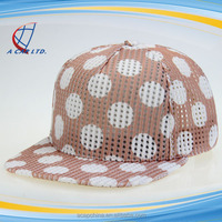 5 Panel Unstructured Dot Printed Hip-Hop Snapback Hats For Sale