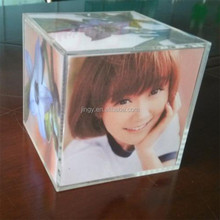 cube box acrylic perspex photo frame