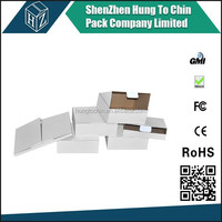 Factory supplier unique design custom printed popular carton white box with window