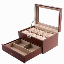 Murong Watch Packing Boxes With Jewelry Tray Watch Boxes Case With Window