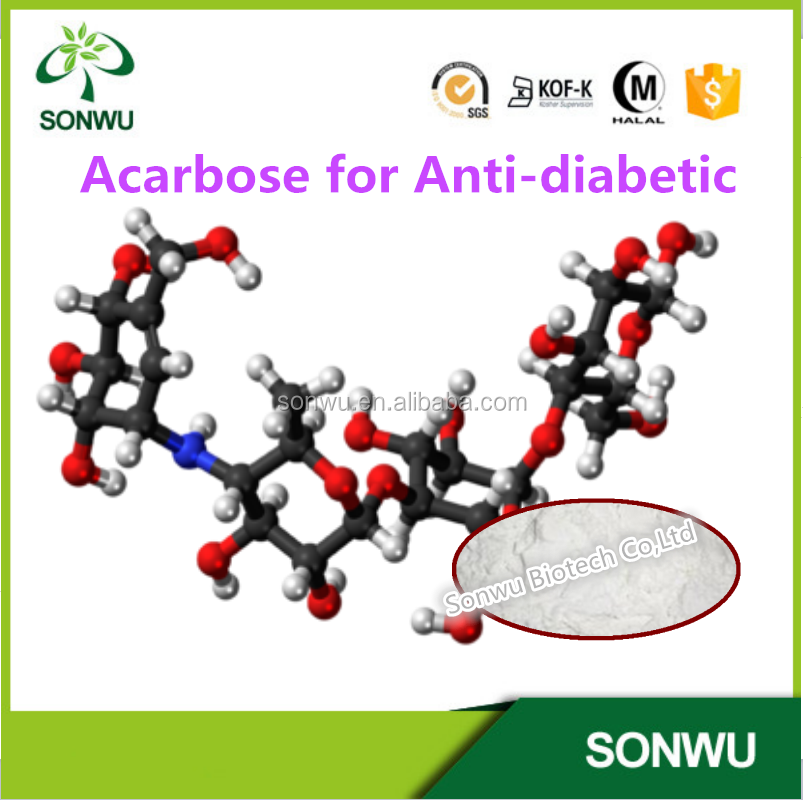 Supply Acarbose 99% Cas 56180-94-0 for Antidiabetic in stock