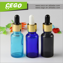 free sample logo printing round 30ml ejuice essential oil glass dropper bottle