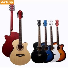 "QAG40 40"" no brand full linden acoustic guitar cheap price wholesale"