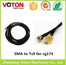 RG174 pigtail cable crc9 to sma connector rf cable