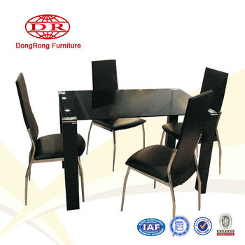 black wooden dining set