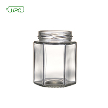 180ml hexagon reusable glass food storage bottle clear jar