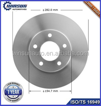 Chinese Drilled Slotted Rotors OE D5DZ2C027A For Versailles V8 From Professional Drilled Slotted Rotors OEM Manufacturer
