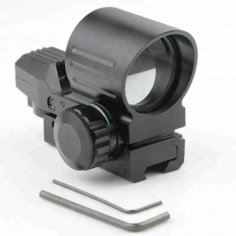 GSP0031-RG--Tactical gun Holographic 4 Reticles Red Green Dot Sight reflex sight Scope 21mm Rail Mount