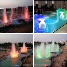 stainless steel outdoor colorful running music water speaker fountain