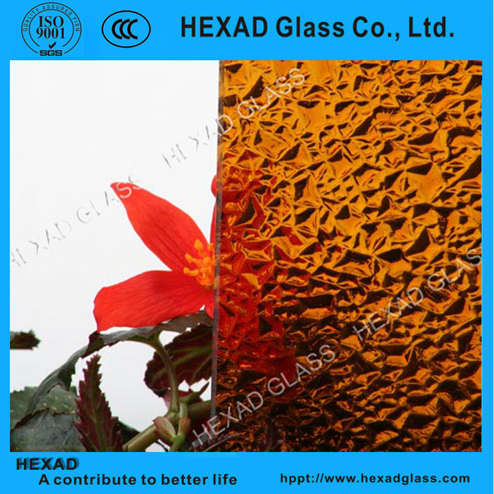 Hexad factory best figured pattern glass wholesale with CE CCC