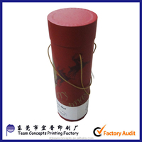 Custom print cylinder tube wine paper box packaging