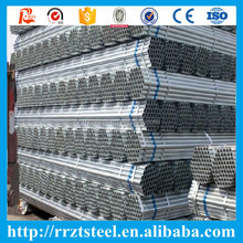 bs1387 galvanized steel pip tube with threade and plain head