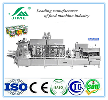 cup filling machine for yogurt milk/commericial frozen yogurt filling sealing machine/industry cup filling machine yogurt plant