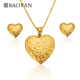 BAOYAN Wholesale African 316L Stainless Steel Heart 18K Gold Plated Jewelry