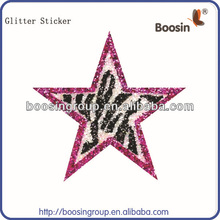 Glitter Spongy Sticker,Custom Glitter Sticker