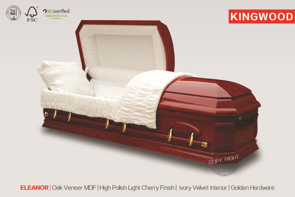 SENATOR OAK American plastic coffins and caskets with casket prices