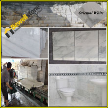 Factory direct Chinese cheap marble price, big size Oriental white marble slab, Carrara thassos Arabescato Italian white marble