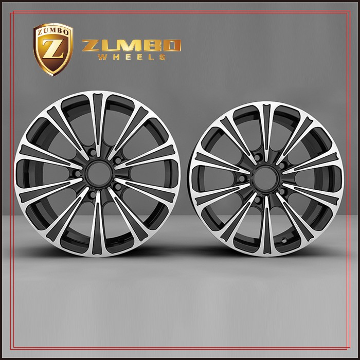 ZUMBO R0005 Black Machine Face Car Aluminum Alloy Wheel