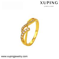 xuping imitation jewelry fine zircon 24k gold plated women's ring