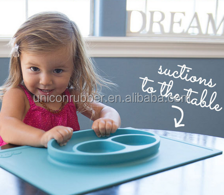 hot selling 100% food grade custom wholesale silicone table mat