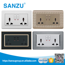 China supply wall electrical sockets switches, USB socket with switch