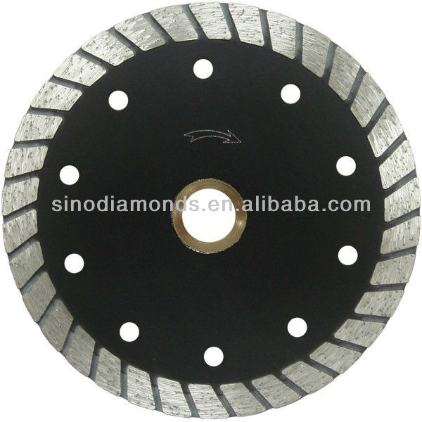 continuous wide tooth turbo small diamond saw blade