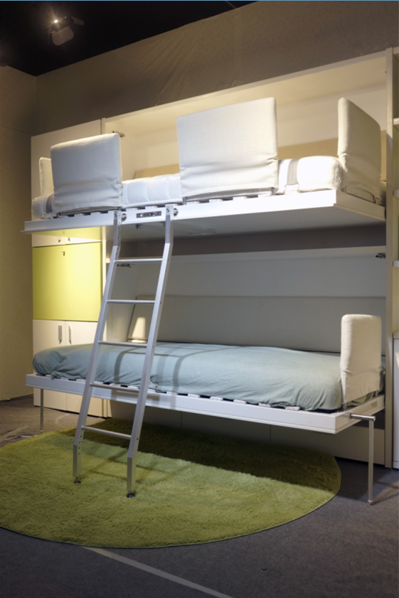 Space saving bunk wall bed horizontal double murphy bed buy space saving bunk wall bed - Space saving bunk bed ...