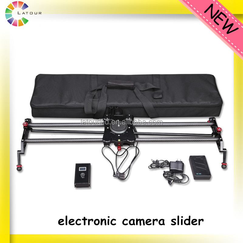 carbon fiber portable electric camera slider dolly with high precision rotation 120cm foldable camera slider motorized