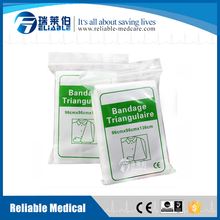 Sanitary upper arm support triangular bandages and dressings uses
