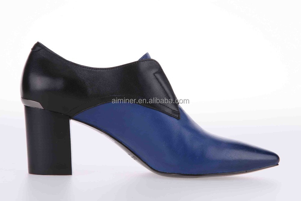 2015 fascinating leather office lady shoes, cheap leather women shoes
