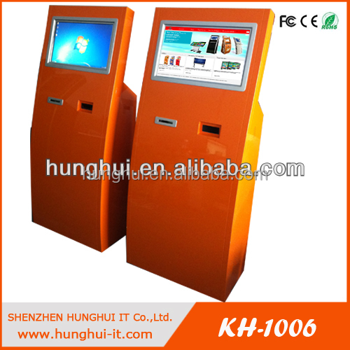 Self service payment terminal / Touch Screen Credit Card Payment Kiosk with transaction receipt printer