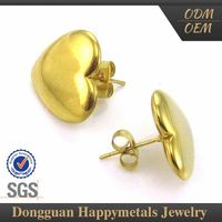 Excellent Stylish Stainless Steel Tailored Pictures Of Gold Earrings