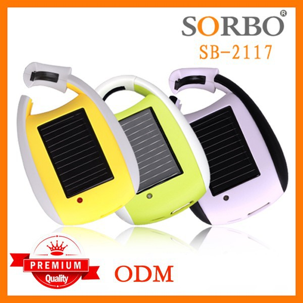 SORBO Cheap Promotional Consumer Electronic Emergency Power Bank for Cell Phone,Solar Powered LED Flashlight with Mobile Charger