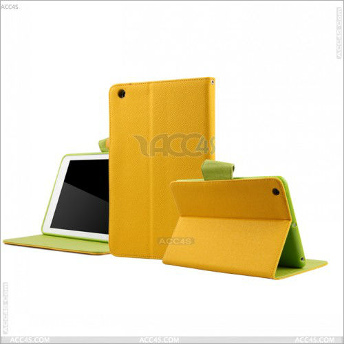 Silicone case yellow color case for ipad mini stand cover P-iPDMINICASE104