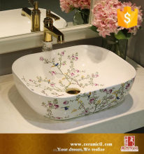 Hand painted Pattern Sanitary Ware setting toilet hand wash shower basins LOWER price in india