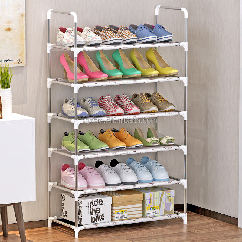 Modern Large Outdoor Fabric Folding Cabinet Shoe Rack