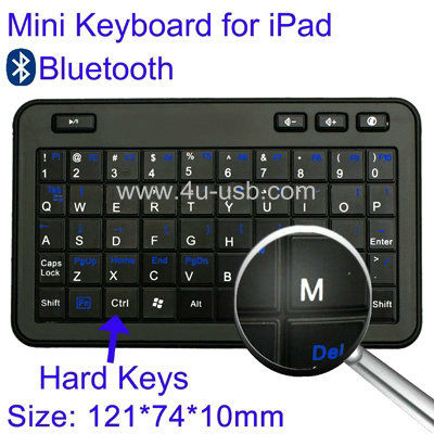 Mini Bluetooth Keyboard for iPad/iPad 2/iPhone/Smart Phone/Laptop