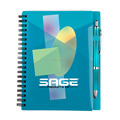office and school supplies , PP cover spiral notebook with pen and pen loop