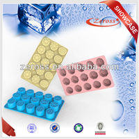 2015 new design fruit shape silicone ice block moulds