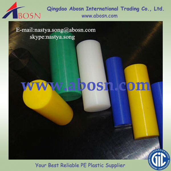 Eco-friendly Reclaimed Material Insulation Chemical Resistant uhmwpe rods from ABOSN