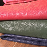 velvet and PU leather composite embroider fabric for sofa, cloth,coat,jacket