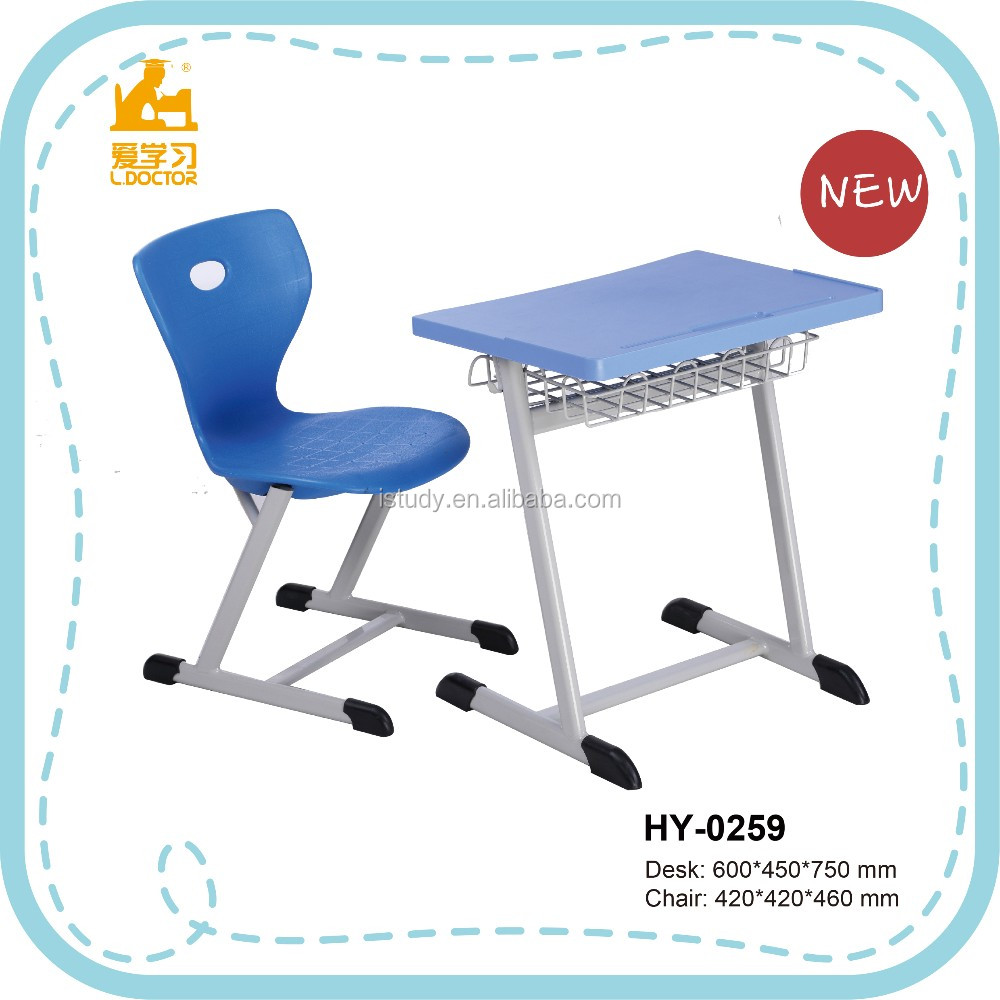 Metal Frame School Desks And Chairs With Certifocation ISO9001 HY-0259
