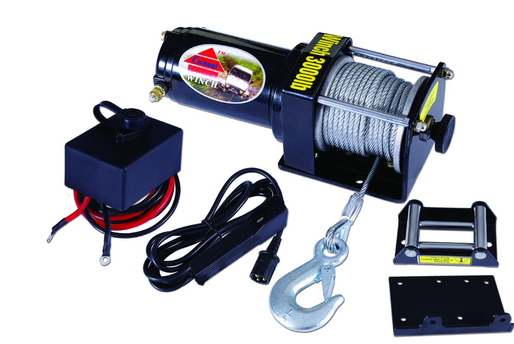 12V electric winch/12v car electric capstan winches 2000lbs/car winch