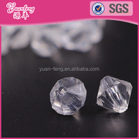 Wholesale Water Transparent Plastic Acrylic Crystal Faceted Beads