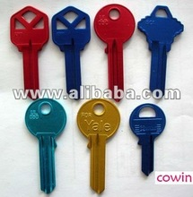Aluminum Color Key Blanks