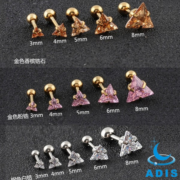 Fashion Jewelry Stainless Steel Ear Stud Claw Setting Variety Zircon