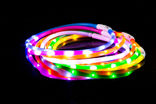 Wholesale Pet Collars USB Rechargeable Luminous Silicone Led Dog Collar