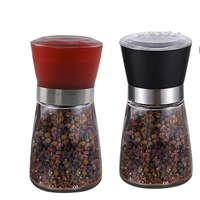 WB-TF201-PG03 Dropshipping Manual Glass Salt and Pepper Mill/glass bottle grinder with OEM logo